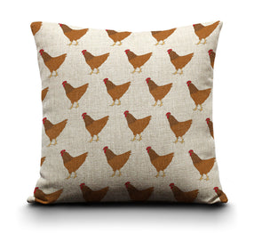 Cushion Cover - Red Chicken