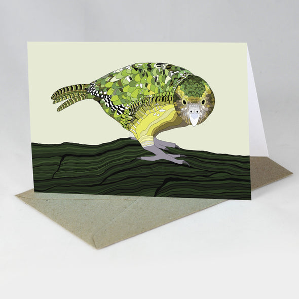 Endangered Animal Card - Kakapo