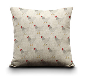 Cushion Cover - White Chicken