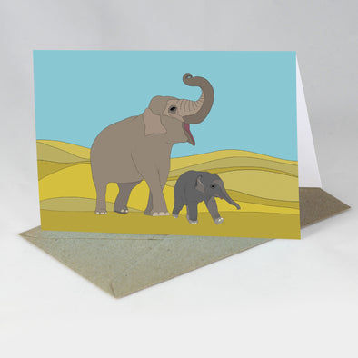 Endangered Animal Card - Indian Elephant