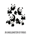 An Amalgamation of Pandas Art Print