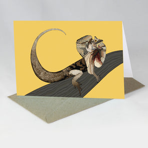 Australian Animals Card - Frillnecked Lizard