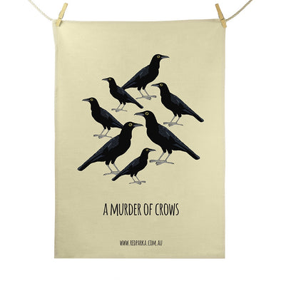 Murder of Crows tea Towel