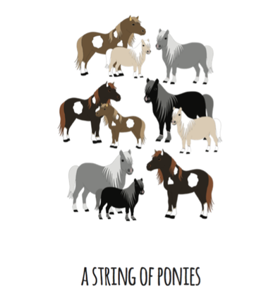 A String of Ponies Art Print