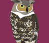Maroon Owl Card - Red Parka