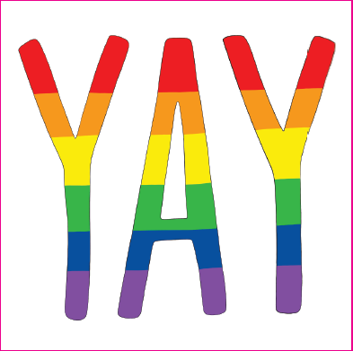 Yay Gay - Yay Sticker