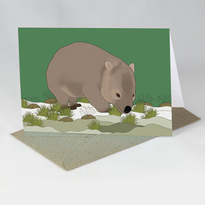 Australian Animal Card - Wombat