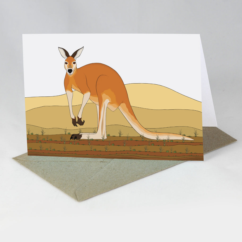 RP - Red Kangaroo (A-Z of Australian Animals) Card