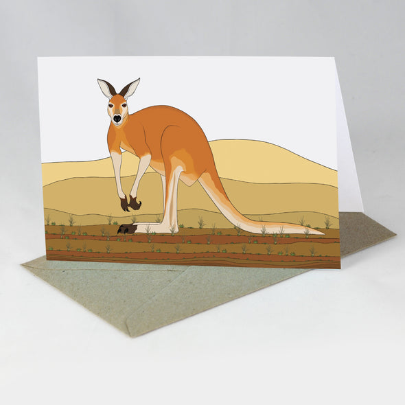 Australian Animal Card - Red Kangaroo