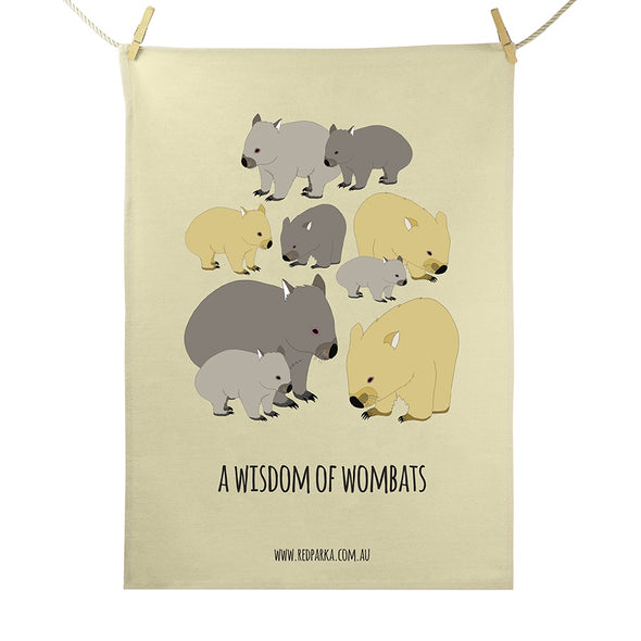 Tea Towel - Wisdom of Wombats