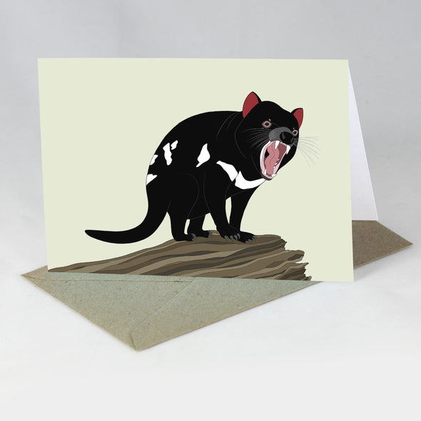 Australian Animal Card - Tasmanian Devil