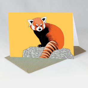 Endangered Animal Card - Red Panda