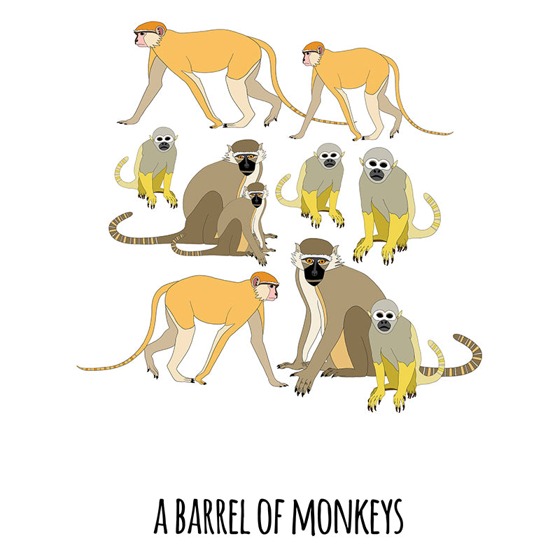 RP - A Barrel of Monkeys Art Print