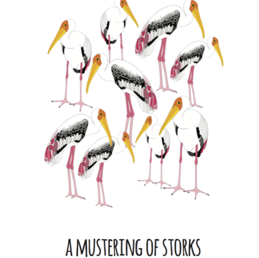 A Mustering of Storks Art Print