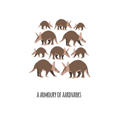 An Armoury of Aardvarks Art Print