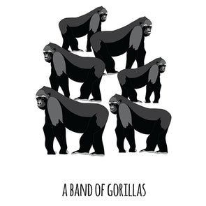 A Band of Gorillas Art Print