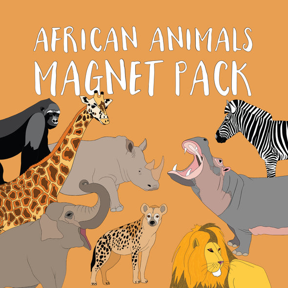 African Animals Magnet Pack