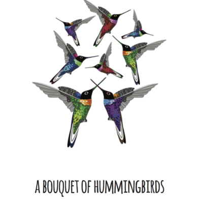 A Bouquet of Hummingbirds Art Print