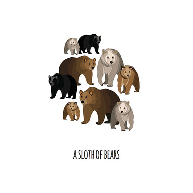 A Sloth of Bears Art Print