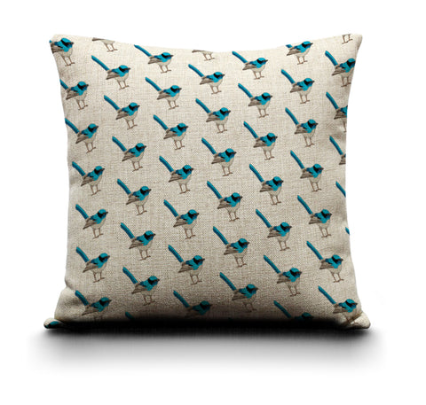 RP - Cushion Cover - Blue Wren