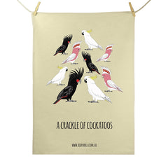 RP - Crackle of Cockatoos Tea Towel