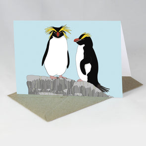 Endangered Animal Card - Crested Penguin