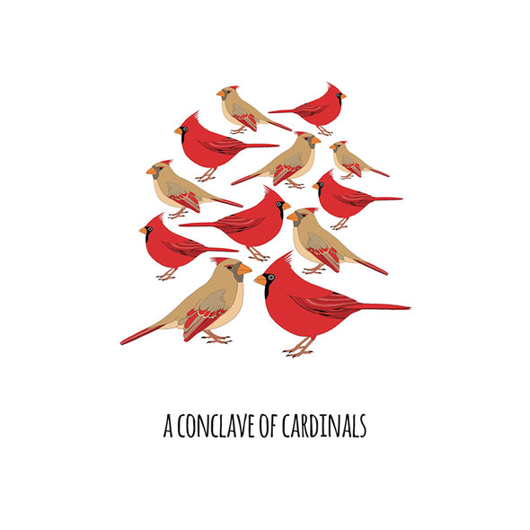 A Conclave of Cardinals Art Print
