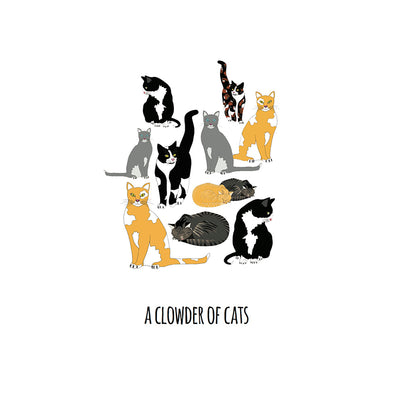 A Clowder of Cats Art Print