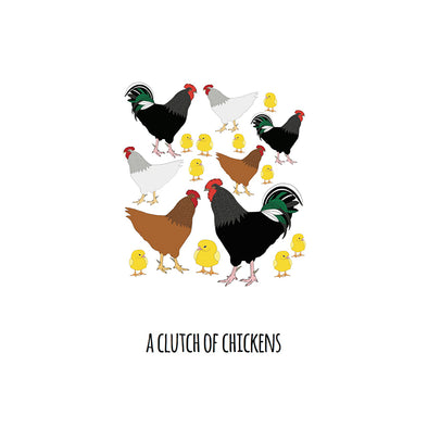 A Clutch of Chickens Art Print