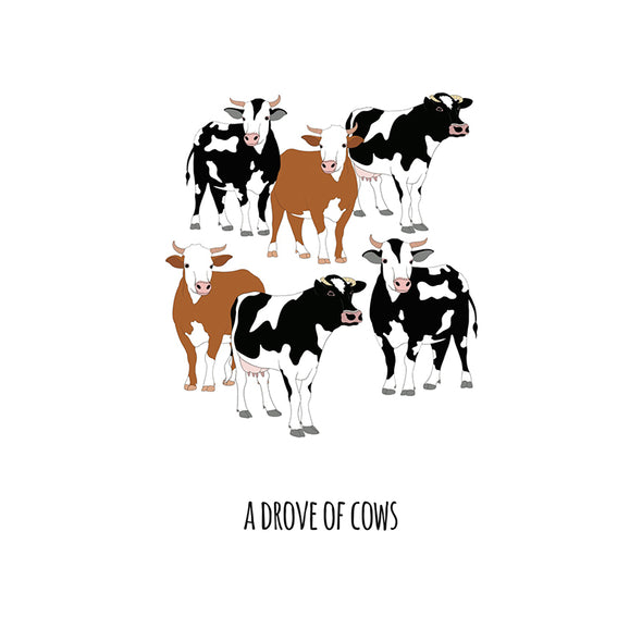 A Drove of Cows Art Print