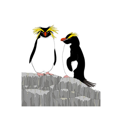 A-Z Crested Penguin Art Print