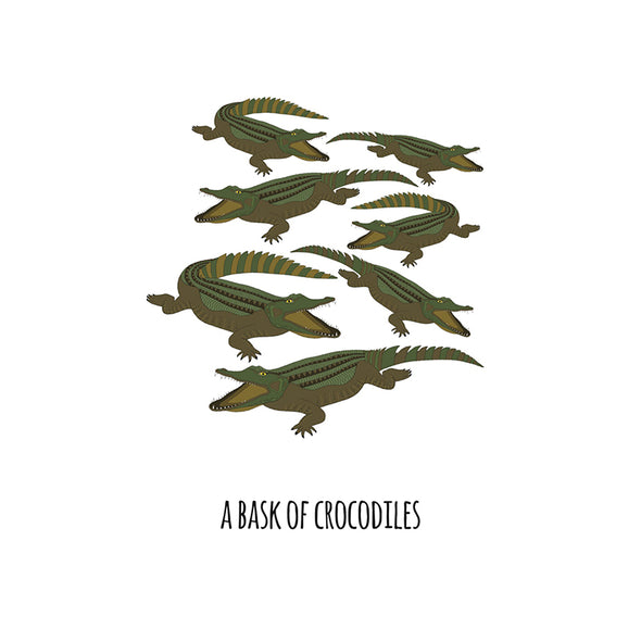 A Bask of Crocodiles Art Print