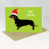 Dashchund Christmas Card - Red Parka