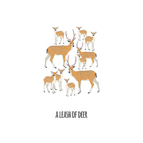 A Leash of Deer Art Print