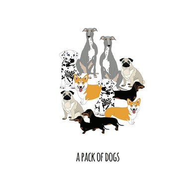 A Pack of Dogs Art Print