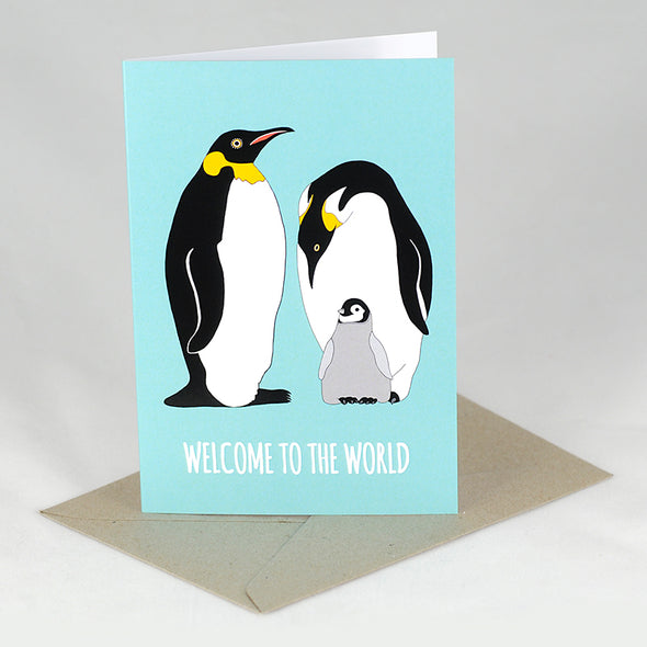 Welcome to the World Card - Red Parka