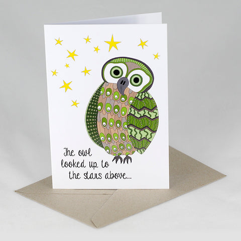 RP - Owl Looked Up To The Stars Card