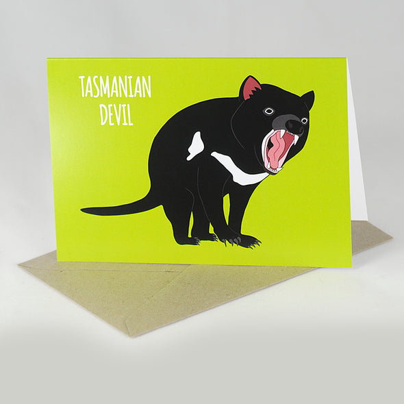 Tasmanian Devil Card - Red Parka