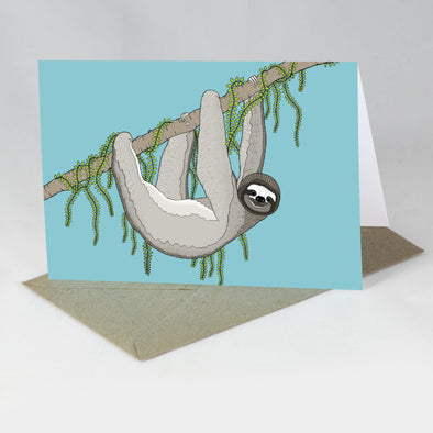Endangered Animal Card - Pygmy Three-toed Sloth