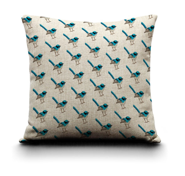 Cushion Cover - Blue Wren