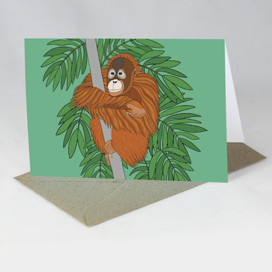 Endangered Animal Card - Orangutan