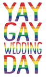 Yay Gay Wedding Day Card