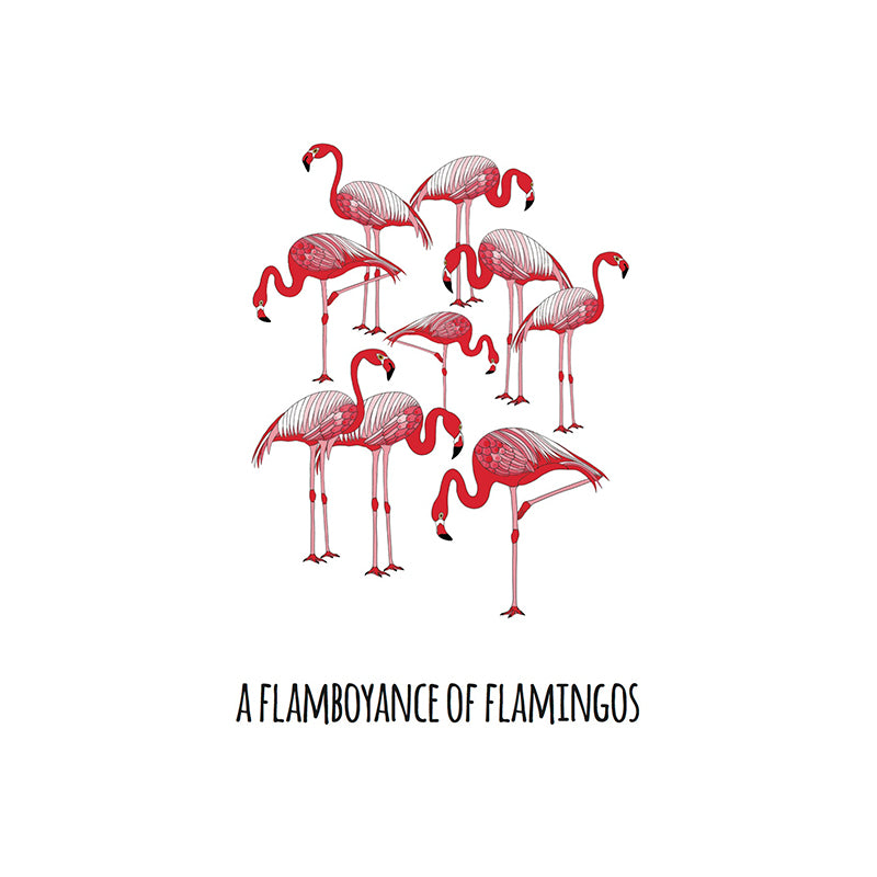RP - A Flamboyance of Flamingos Art Print