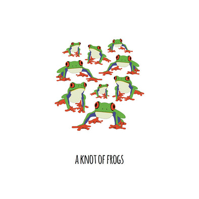 A Knot of Frogs Art Print