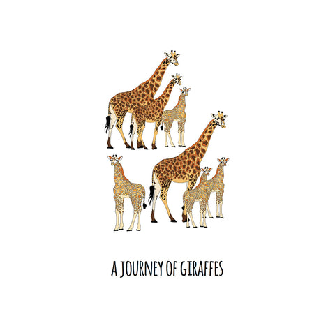 RP - A Journey of Giraffes Art Print