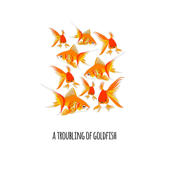 A Troubling of Goldfish Art Print