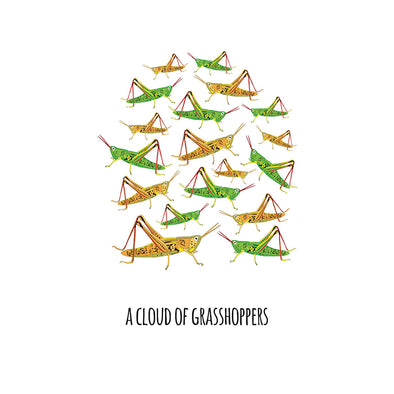 A Cloud of Grasshoppers Art Print