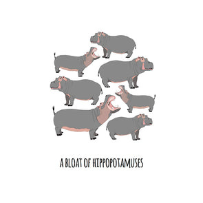 A Bloat of Hippopotamuses Art Print