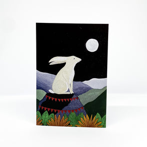 The Hare and the Moon - Red Parka Card