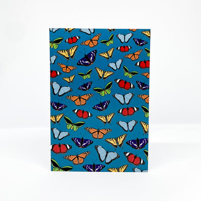 Butterflies - Red Parka Card